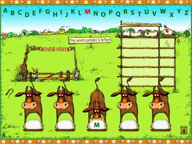 «Быки и коровы», игра в слова (на английском языке)