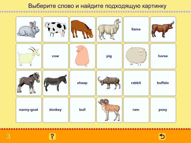 Учим английские слова. Животные_1