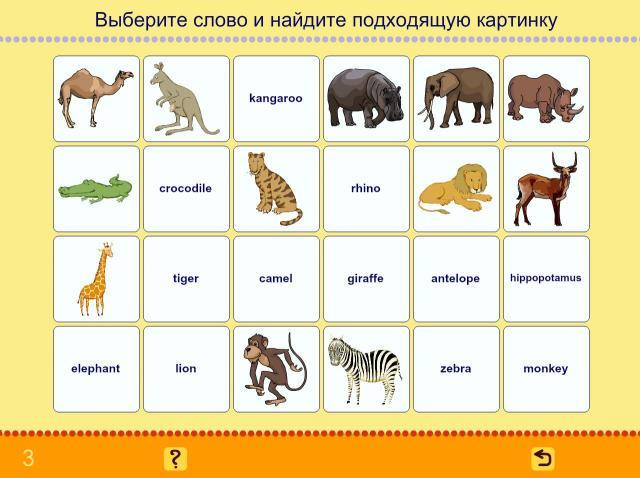 Учим английские слова. Животные_3