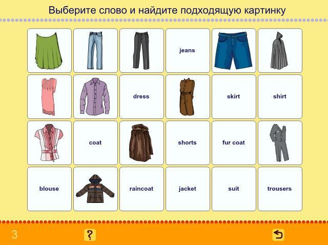 Учим английские слова. Одежда_1