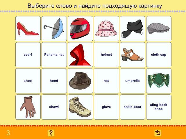 Учим английские слова. Одежда_2