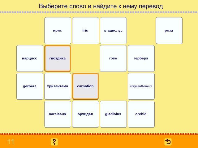Учим английские слова. Цветы_9